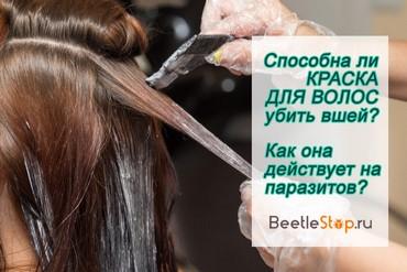 Дохнут ли вши от краски для волос